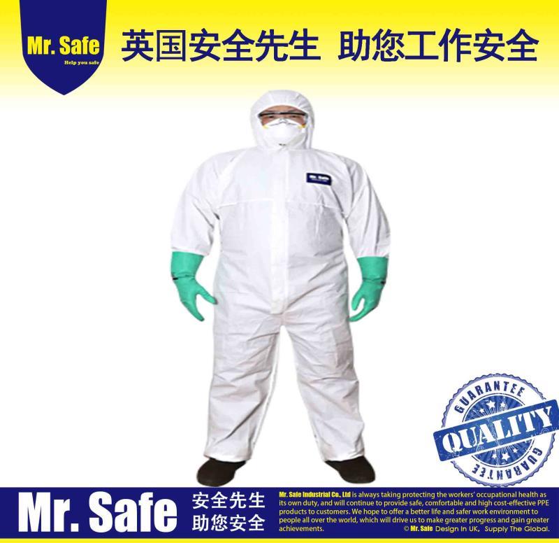 C1一次性连体服透气膜防护服隔离服防尘服喷漆服