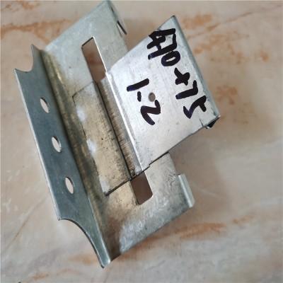 直立锁边470型彩钢板滑动支架图片