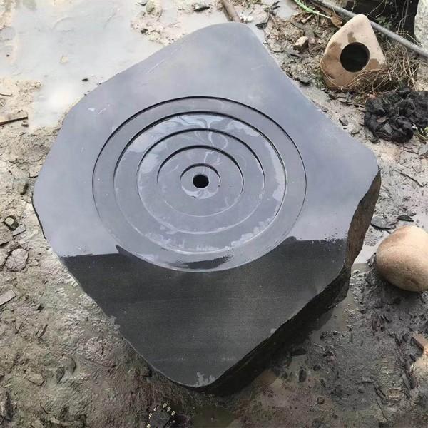 异形加工黑山石可加工成石钵石桌切片造景广东刻字黄蜡石厂家提供