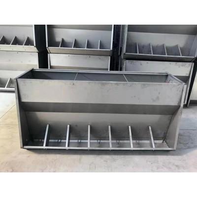 不锈钢双面料槽大猪槽育肥猪食槽保育猪采食槽单面猪用自动下料槽