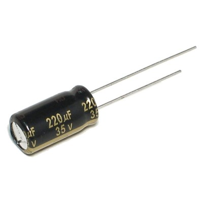引线型铝电解电容 - 220uF 35V 高频