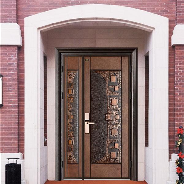 山东铸铝门庭院铝艺大门