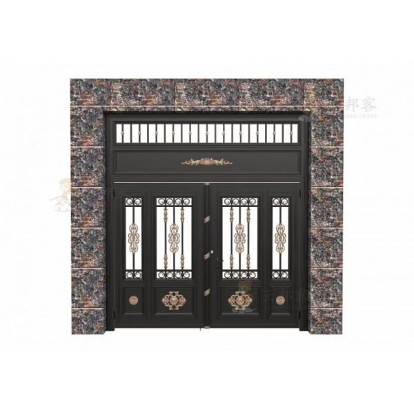 临朐铸铝门庭院铝艺大门