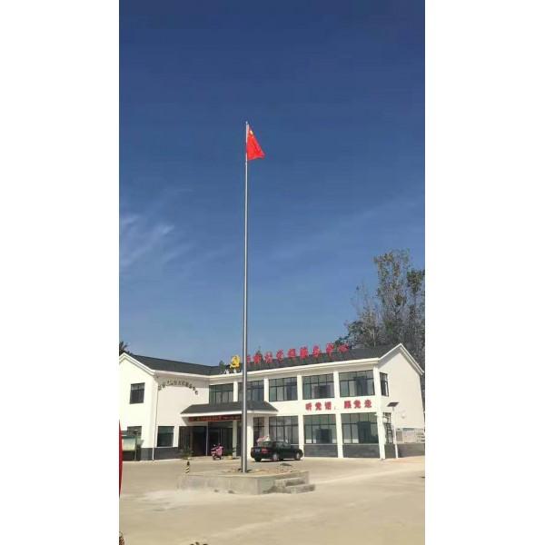 宁波手工艺旗杆,宁波设计18米旗杆,宁波天一广场旗杆旗帜