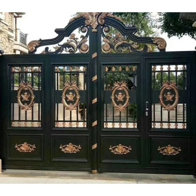厂家直销铝艺大门 加工定做全铝金属门 铝合金别墅大门