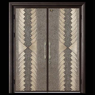 定制铝合金庭院小区欧式双平开大门