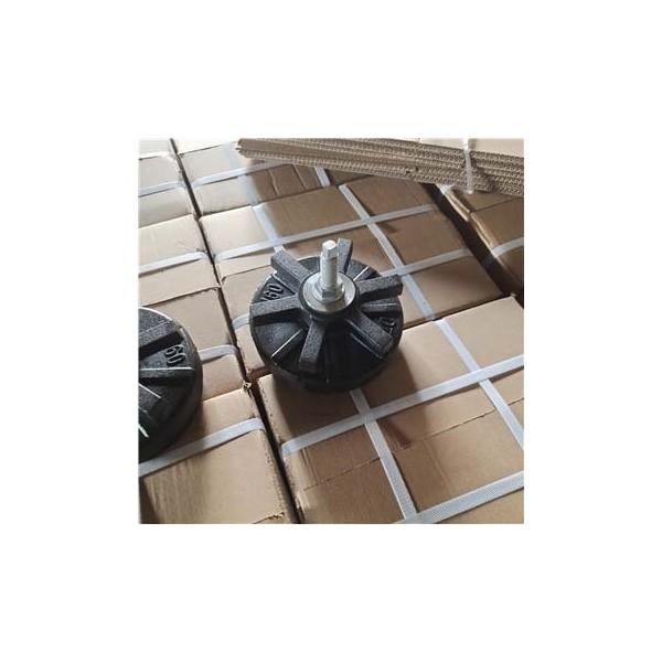 六爪重型数控机床垫脚 注塑机垫铁 三层圆形方形减震防震垫铁