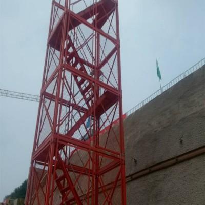 工地施工梯笼 挂网式梯笼 笼梯