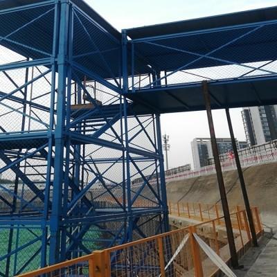 施工通道梯笼 框架式梯笼 梯笼安装
