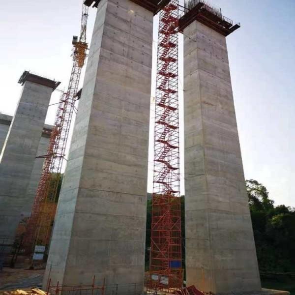 桥梁施工爬梯 梯笼式爬梯