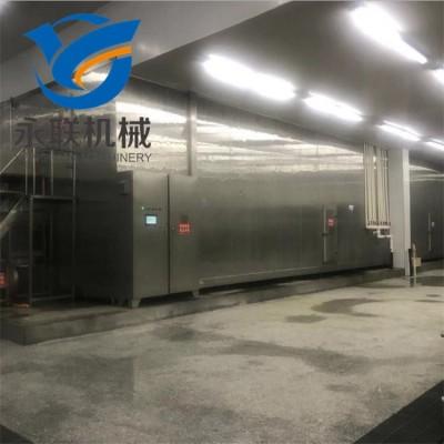 虾排压缩机速冻机 鸡排全自动速冻隧道 肉排急速冷冻设备