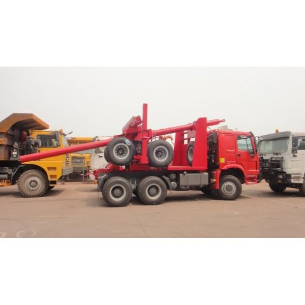 出口非洲HOWO原木运输车371马力价格