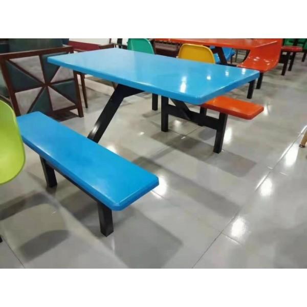 快餐店小吃店餐桌椅饭堂餐桌椅工地茶水间桌椅
