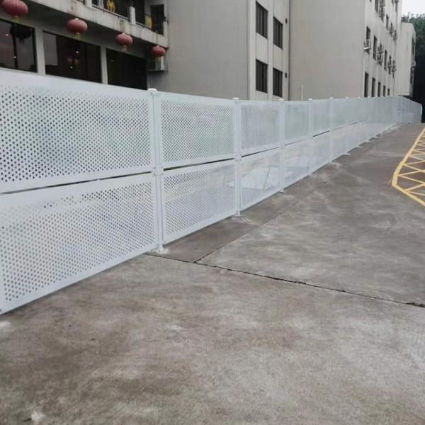 江门镀锌冲孔板围挡 工业园短期施工临时防风围挡