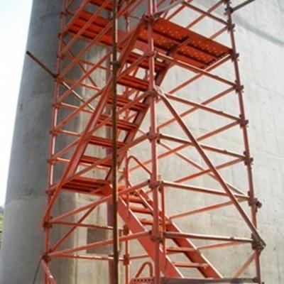 框架式爬梯 桥墩施工爬梯 挂网爬梯