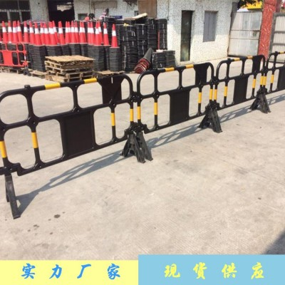城市绿化带迁移整改隔离护栏 黄色塑料胶马护栏 可印LOGO