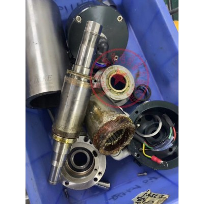 亿利达注塑机电主轴维修,有异响换轴承 打刀 锥孔修复